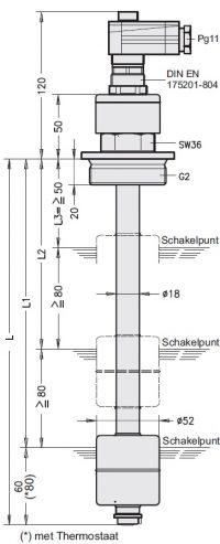 KFI-R Niveau-temperatuurschakelaar